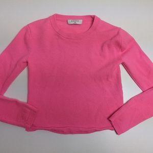 Aritzia Babaton Nathaniel Sweater Cropped Neon Pink XXS